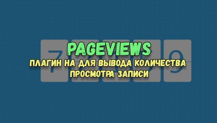 Pageviews — плагин на WordPress для вывода количества просмотра записи